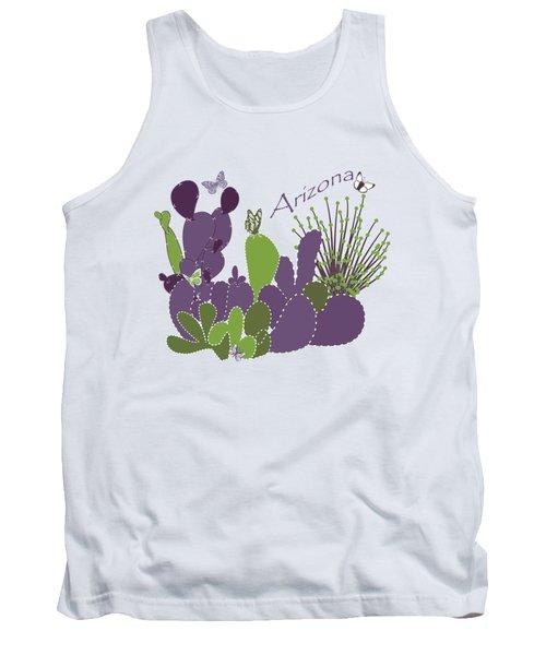 Arizona Cacti Tank Top by Methune Hively
