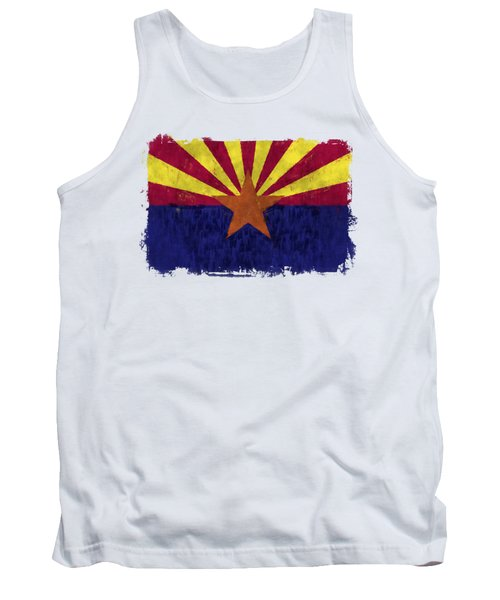 Arizona Flag Tank Top by World Art Prints And Designs