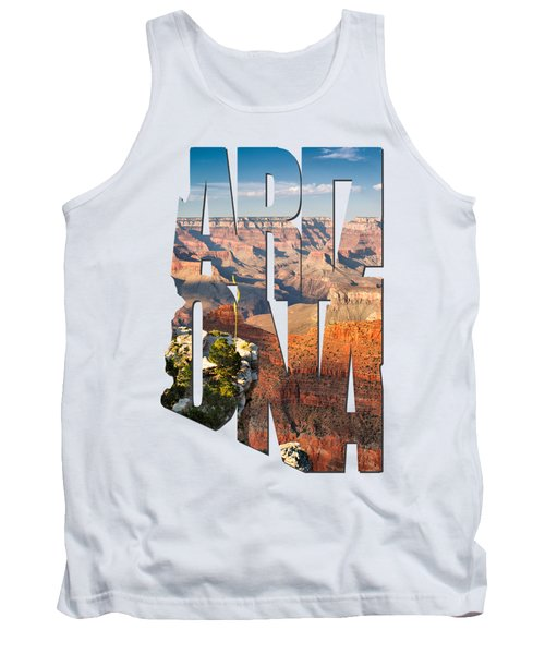 Arizona Typography - Grand Canyon At Sunset Tank Top by Gregory Ballos