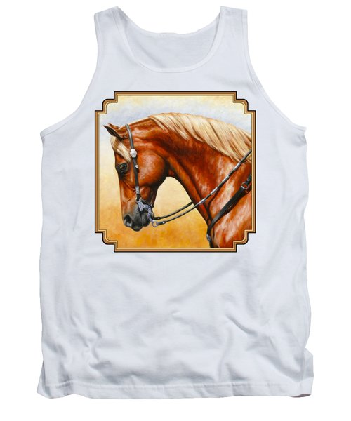 Precision - Horse Painting Tank Top by Crista Forest