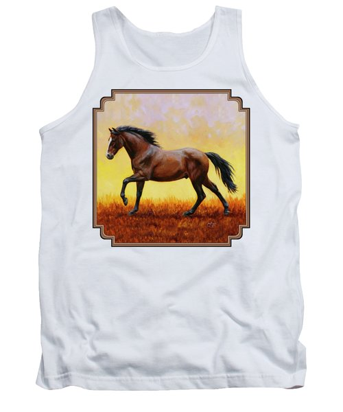 Midnight Sun Tank Top by Crista Forest