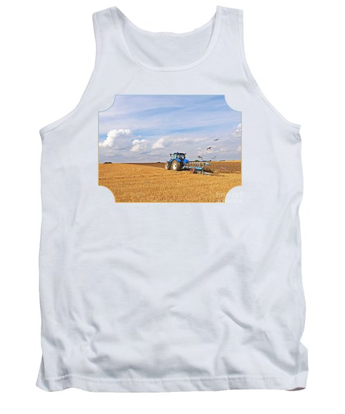 Ploughing After The Harvest Tank Top by Gill Billington