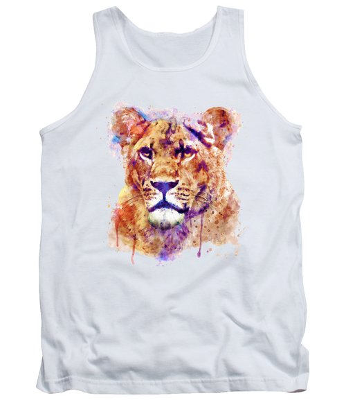 Lioness Head Tank Top by Marian Voicu