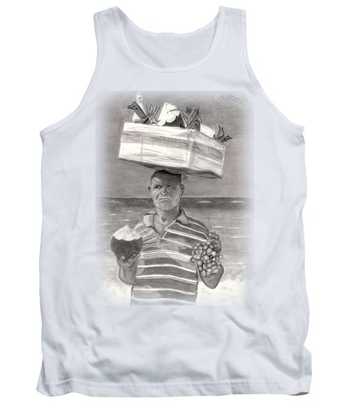 Island Street Vendor Tank Top by Tom Podsednik