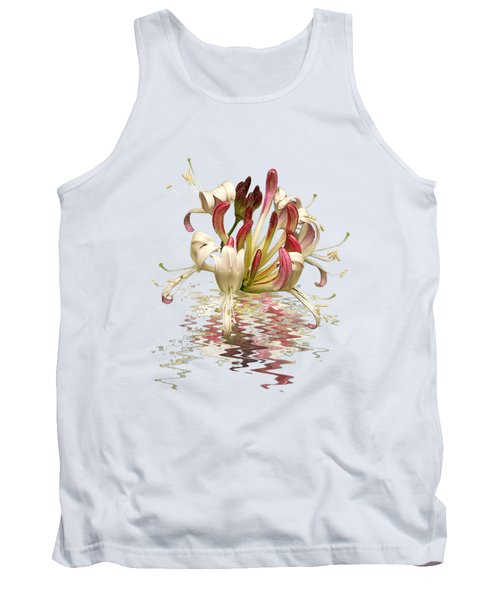 Honeysuckle Reflections Tank Top by Gill Billington