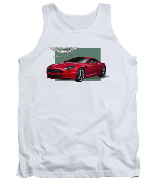 Aston Martin  D B S  V 12  With 3 D Badge  Tank Top by Serge Averbukh
