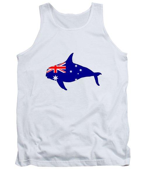Australian Flag - Killer Whale / Grampus / Orca Tank Top by Mordax Furittus