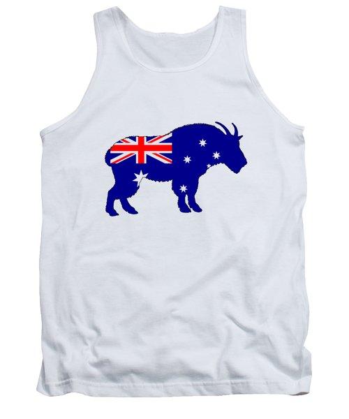 Australian Flag - Mountain Goat Tank Top by Mordax Furittus