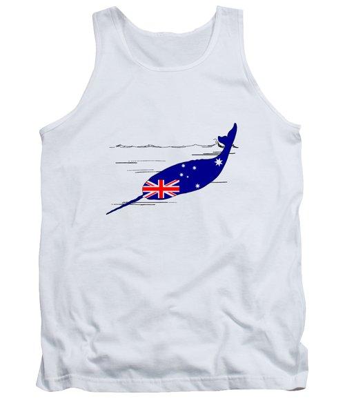 Australian Flag - Narwhal Tank Top by Mordax Furittus