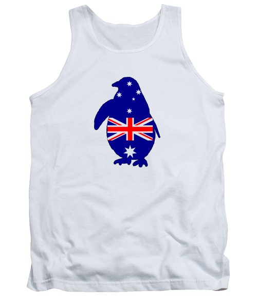 Australian Flag - Penguin Tank Top by Mordax Furittus
