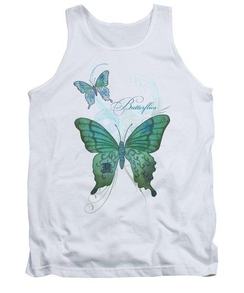 Beautiful Butterflies N Swirls Modern Style Tank Top by Audrey Jeanne Roberts