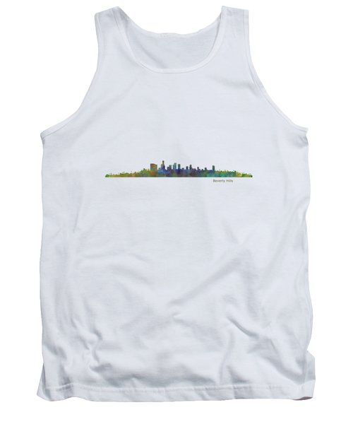 Beverly Hills City In La City Skyline Hq V1 Tank Top by HQ Photo