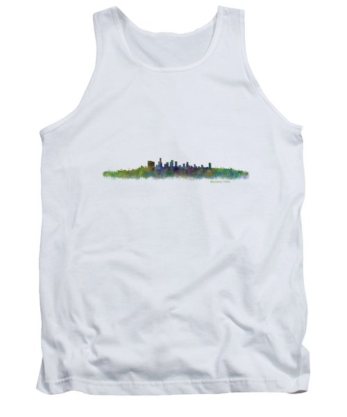 Beverly Hills City In La City Skyline Hq V2 Tank Top by HQ Photo