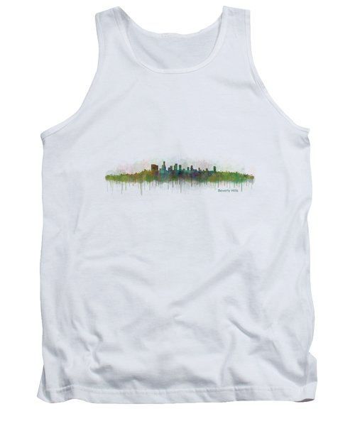 Beverly Hills City In La City Skyline Hq V3 Tank Top by HQ Photo
