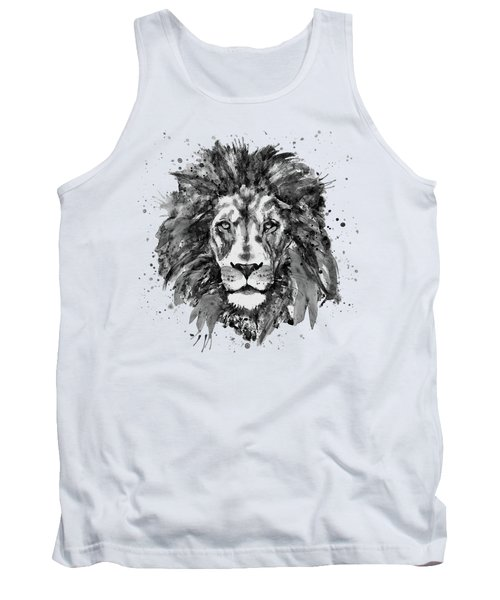 Black And White Lion Head  Tank Top by Marian Voicu