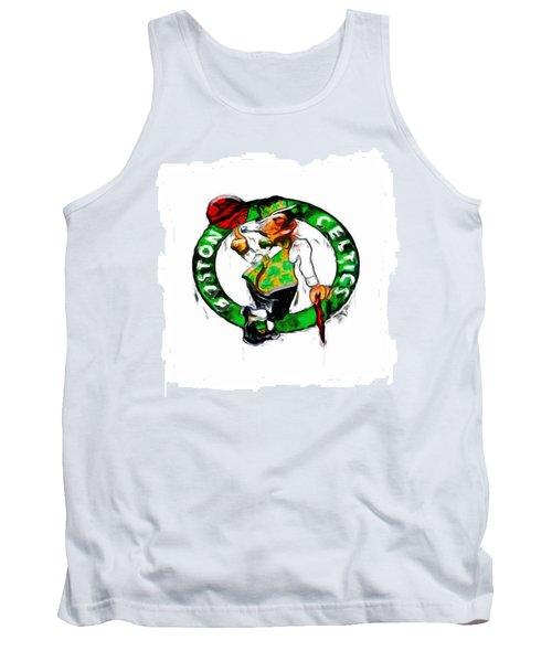 Boston Celtics 2b Tank Top by Brian Reaves