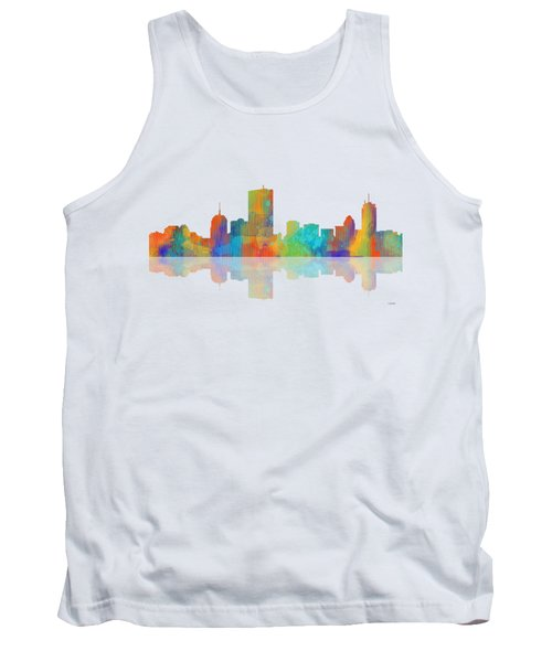 Boston Ma. Skyline Tank Top by Marlene Watson