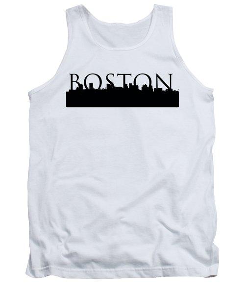 Boston Skyline Outline With Logo Tank Top by Joann Vitali