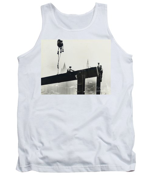 Building The Empire State Building Tank Top by LW Hine