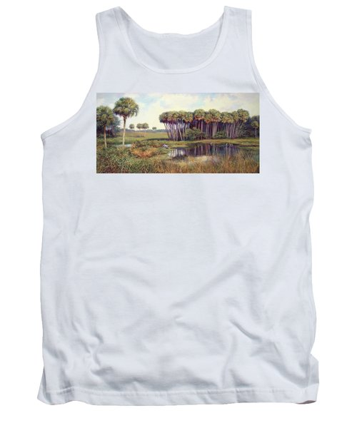 Cabbage Palm Hammock Tank Top by Laurie Hein