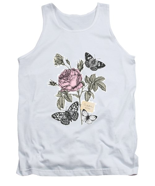 Cabbage Rose Tank Top by Stephanie Davies