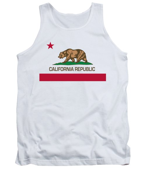 California Republic State Flag Authentic Version Tank Top by Bruce Stanfield