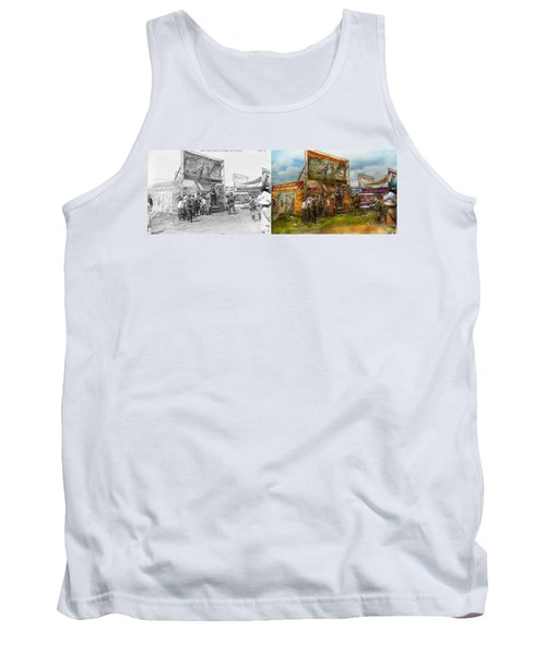 Carnival - Wild Rose And Rattlesnake Joe 1920 - Side By Side Tank Top by Mike Savad