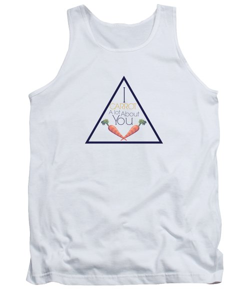 Carrot About You Pyramid Tank Top by Lunar Harvest Designs
