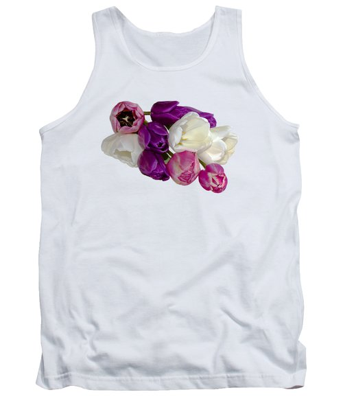 Cascading Tulips Tank Top by Phyllis Denton