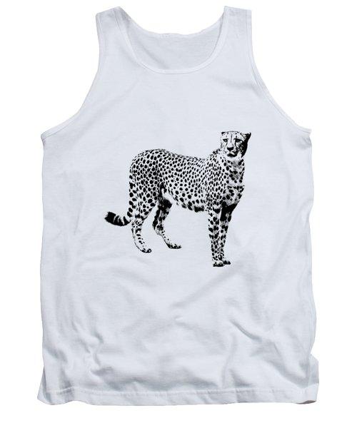 Cheetah Cutout Tank Top by Greg Noblin