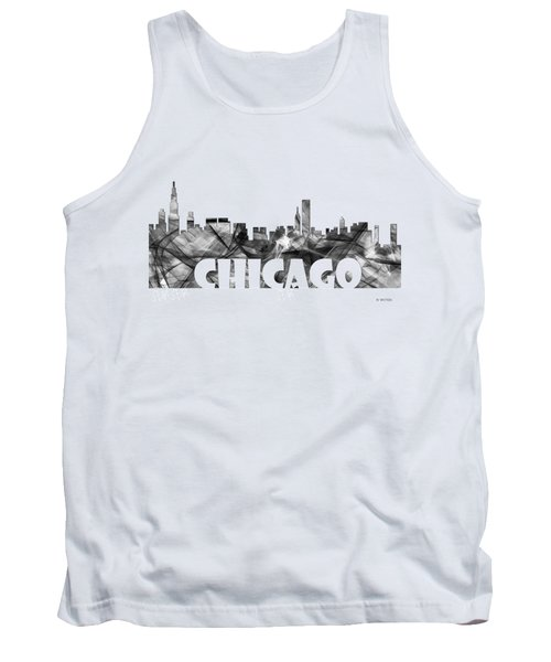 Chicago Illinios Skyline Tank Top by Marlene Watson