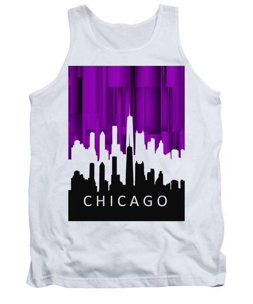 Chicago Violet In Negative Tank Top by Alberto RuiZ