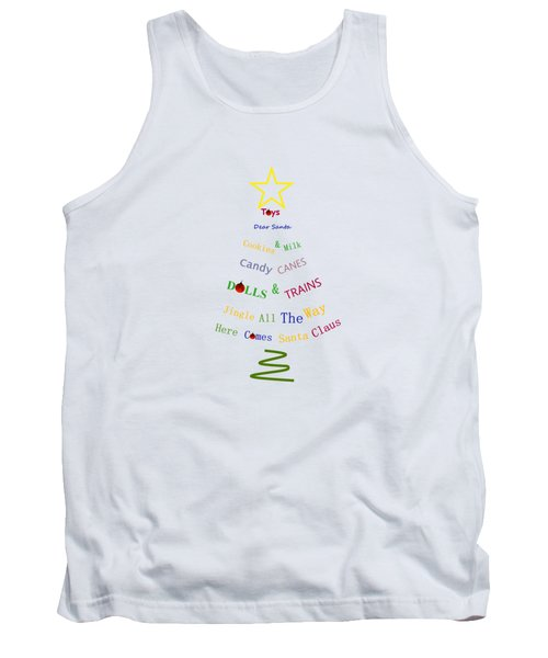 Children Holiday Tree Tank Top by Kathleen Sartoris