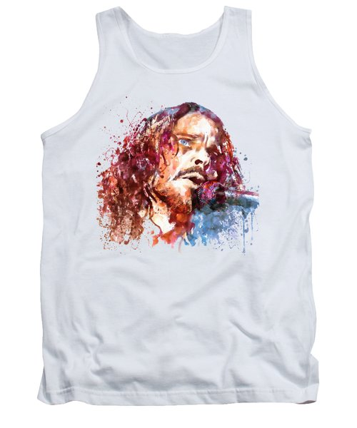 Chris Cornell Tank Top by Marian Voicu