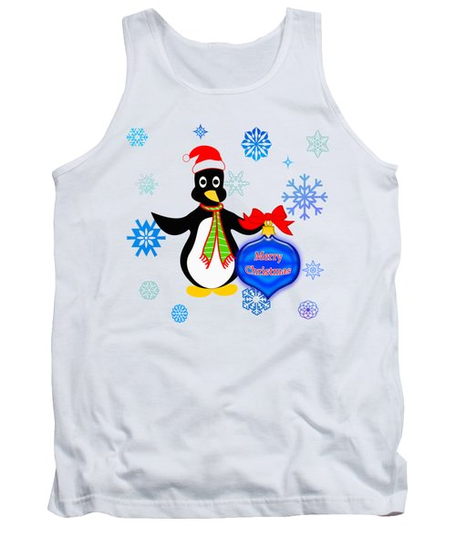 Christmas Penguin Tank Top by Methune Hively