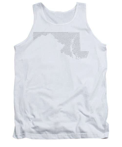 Cities And Towns In Maryland Black Tank Top by Custom Home Fashions