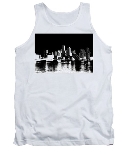 City Of Boston Skyline   Tank Top by Enki Art