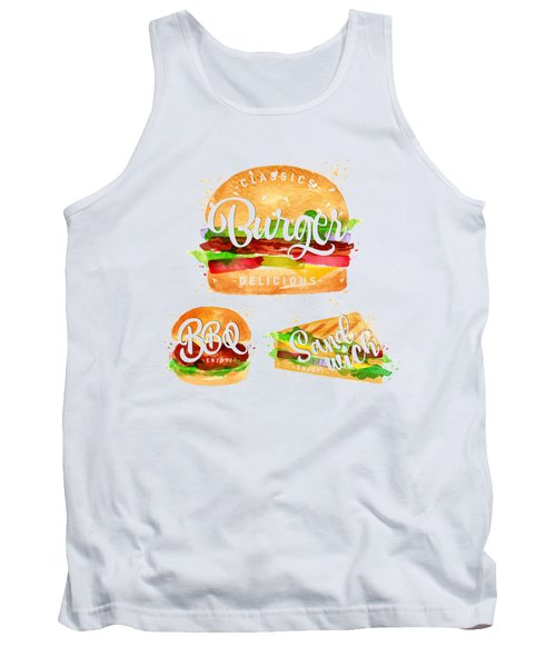 Color Burger Tank Top by Aloke Design