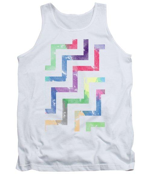 Colorful Geometric Patterns Vi Tank Top by Amir Faysal