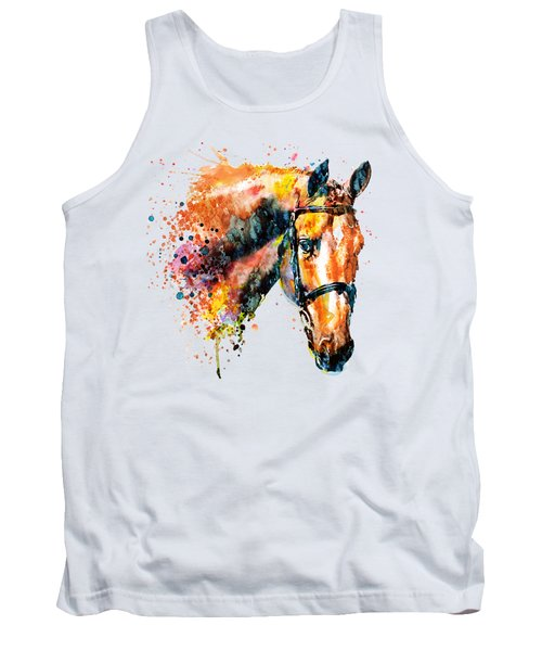 Colorful Horse Head Tank Top by Marian Voicu