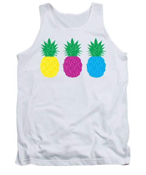 Colorful Pineapples Tank Top by Leah Hawkins