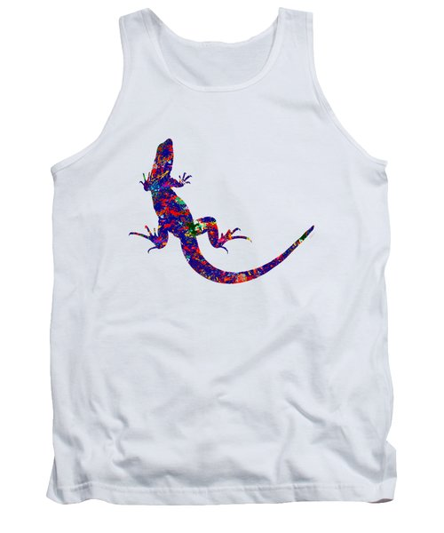 Colourful Lizard Tank Top by Bamalam  Photography