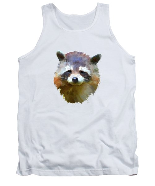 Colourful Raccoon Tank Top by Bamalam  Photography