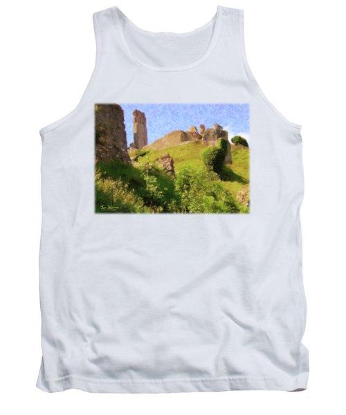 Corfe Castle Tank Top by Jon Delorme