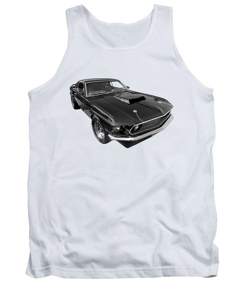 Coz I Can Black And White Tank Top by Gill Billington