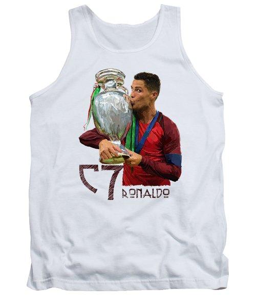 Cristiano Ronaldo Tank Top by Armaan Sandhu