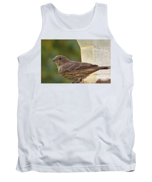 Crossbill Female Portrait      September    Indiana Tank Top by Rory Cubel