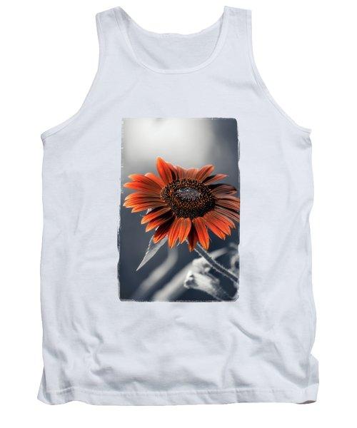 Dark Sunflower Tank Top by Konstantin Sevostyanov