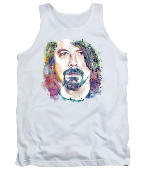 Dave Grohl Close-up Tank Top by Marian Voicu