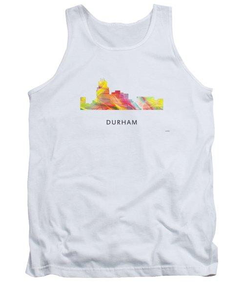 Durham North Carolina Skyline Tank Top by Marlene Watson